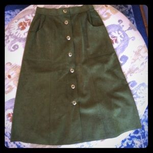 Vintage suede high-waisted skirt.